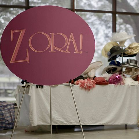 A table exhibit at the Zora! Festival