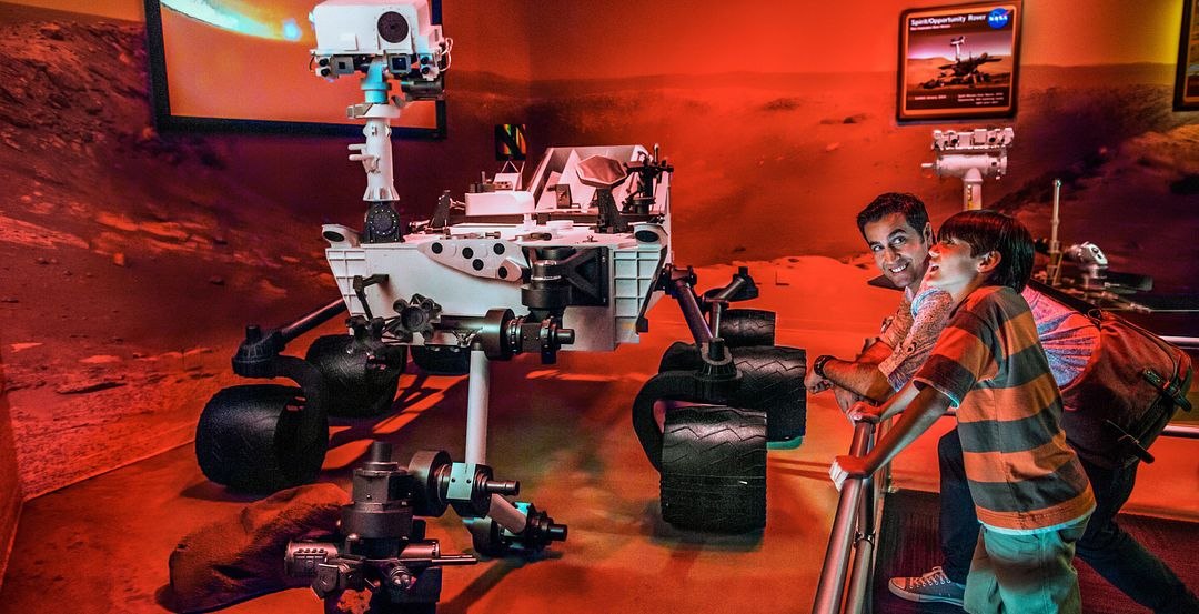 Mars Rover Exhibit at Kennedy Space Center Visitor Complex Near Orlando