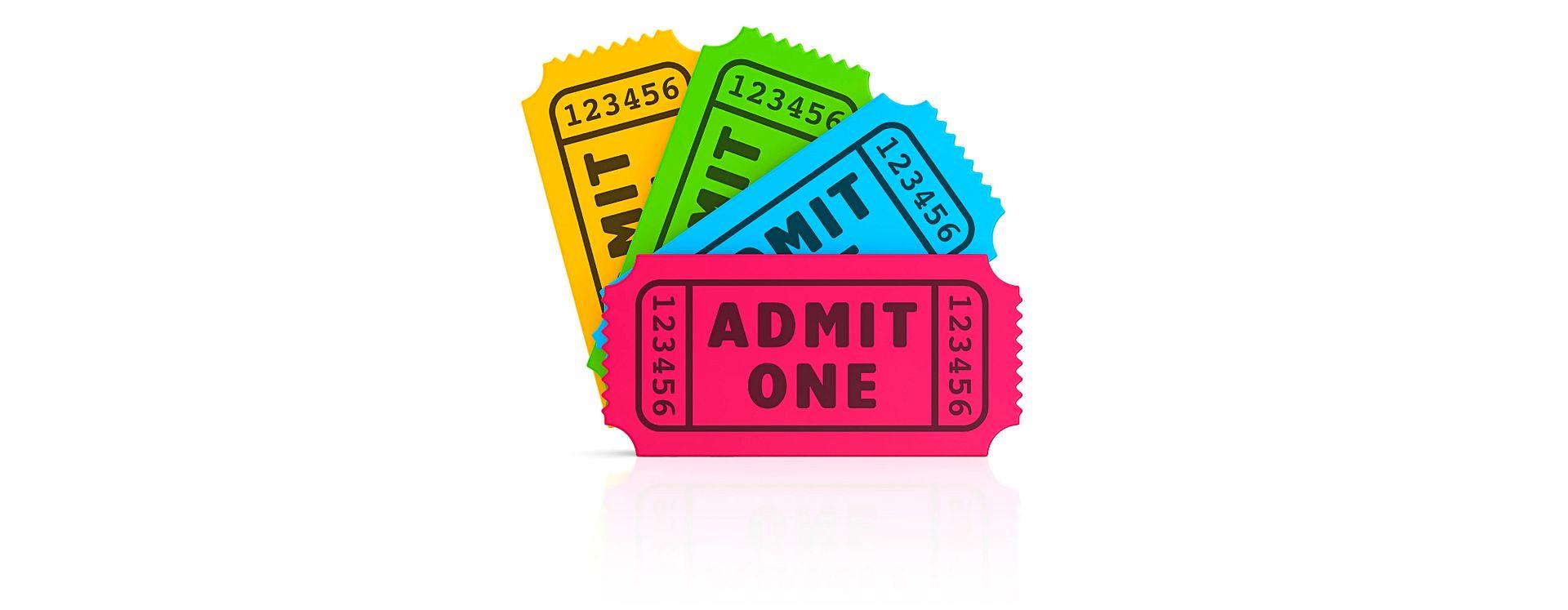 rectangular movie ticket