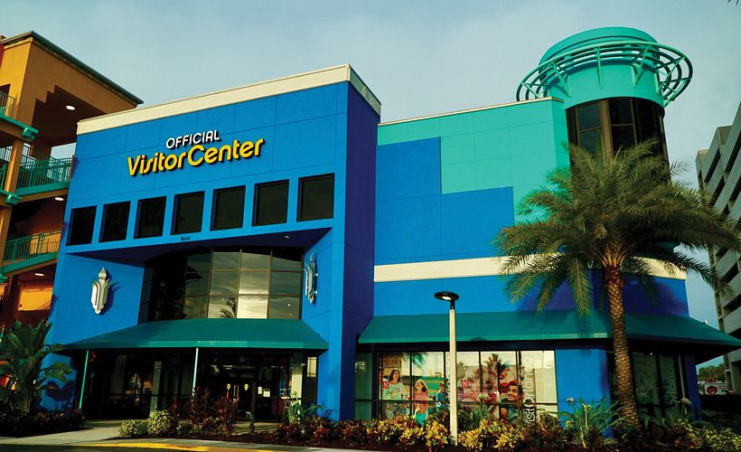 Exterior of the Official Visitor Center, welcoming tourists and providing information to all visitors in Orlando, Florida