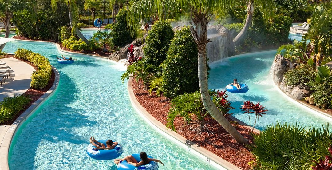 Hilton Orlando Offers Two Pools, a Lazy River and a Splash Pad for Kids