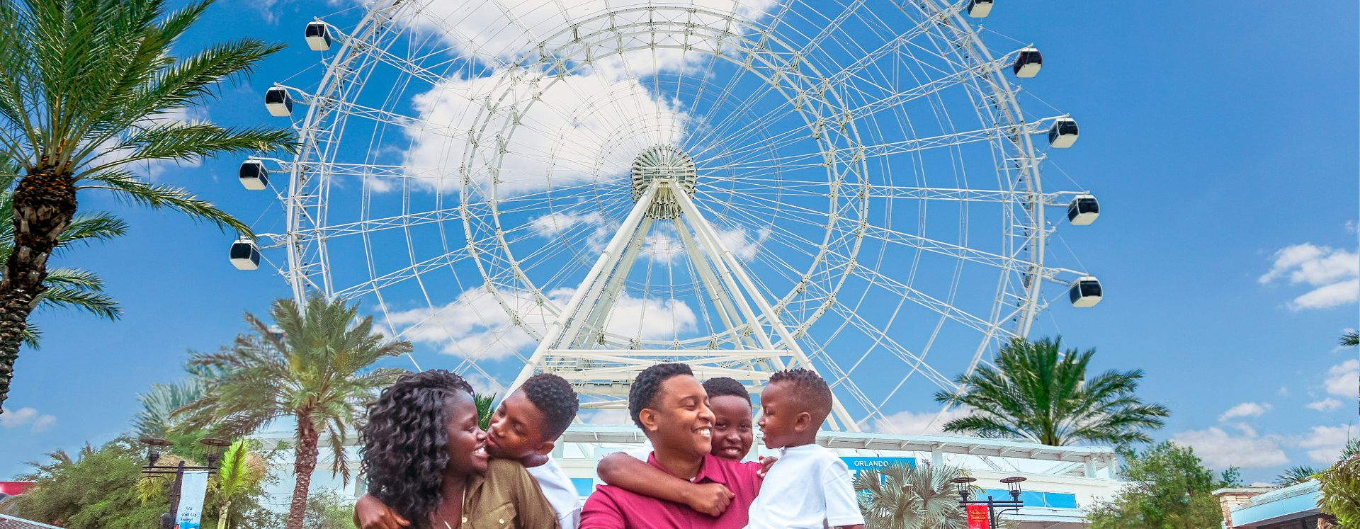 Family enjoying their day at the Orlando ICON