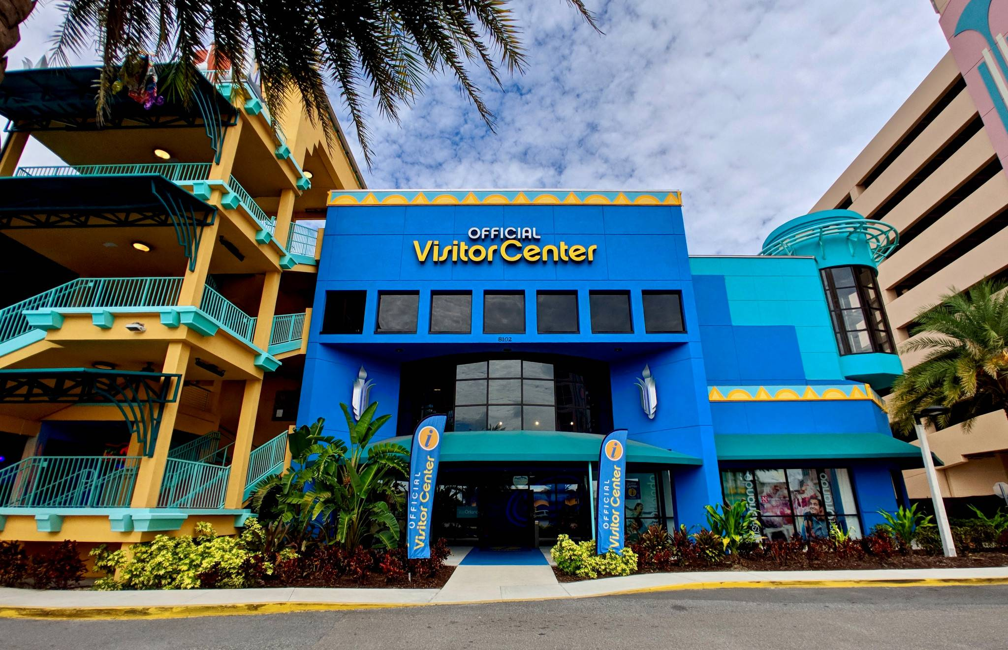 Exterior shot of Visit Orlando's Official Visitor Center on International Drive
