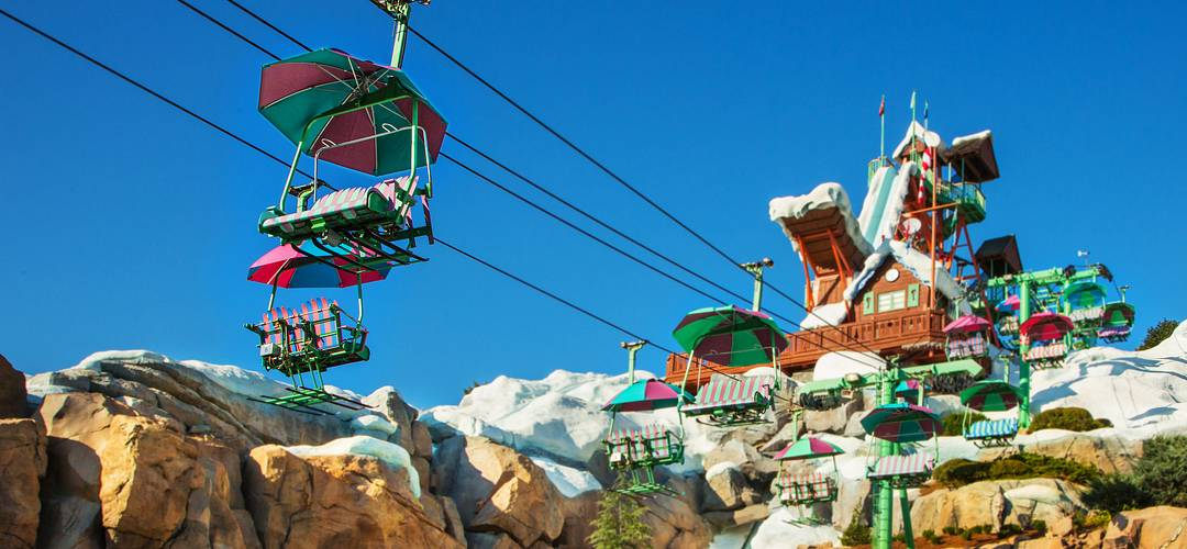 Chairlift in Disney's Blizzard Beach in Orlando