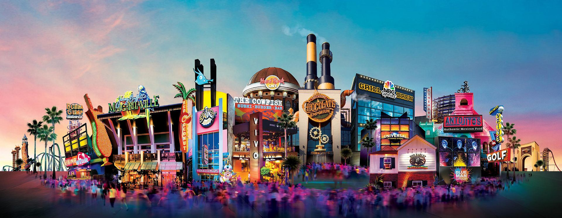 Citywalk at Universal Orlando® Resort provides a multitude of entertainment and restaurants for friends and family.