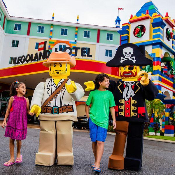 Family roller coaster fun at Legoland Florida.