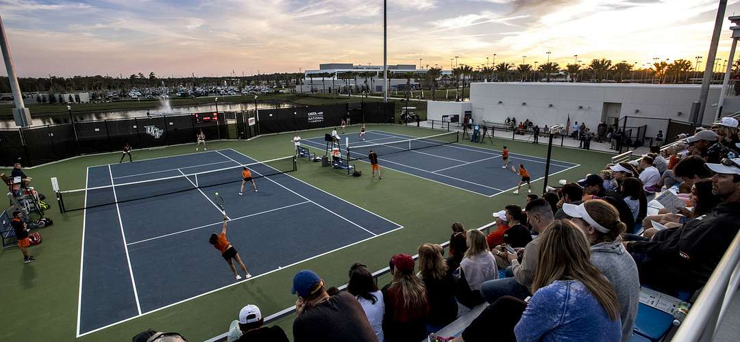 Crowd watching  tennis matches at USTA Center in Lake Nona