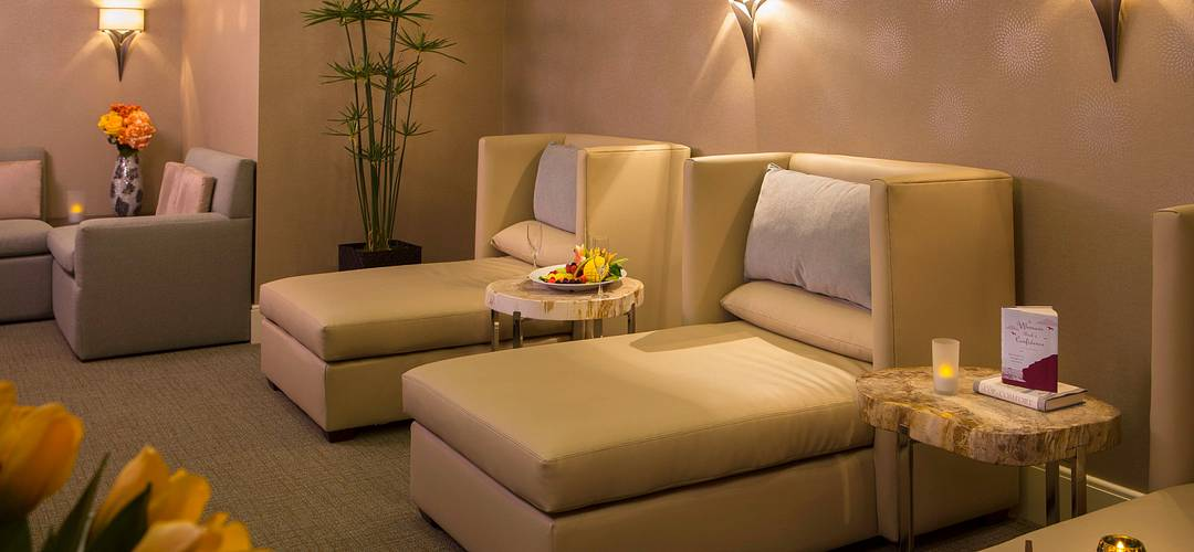 O The Spa, na sala de relaxamento do Rosen Centre Hotel