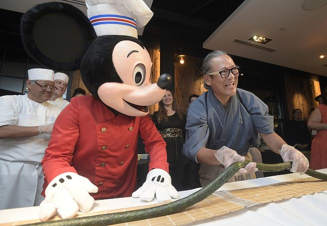 Masaharu Morimoto's (right) Morimoto Asia at Disney Springs in Orlando (Photo Courtesy Patina Restaurant Group)