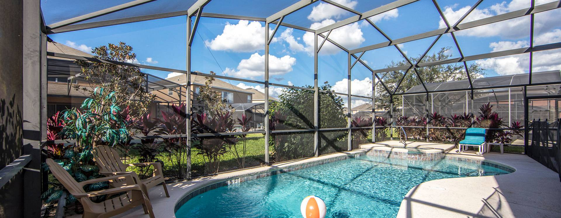 Orlando Vacation Homes 360 screened in pool