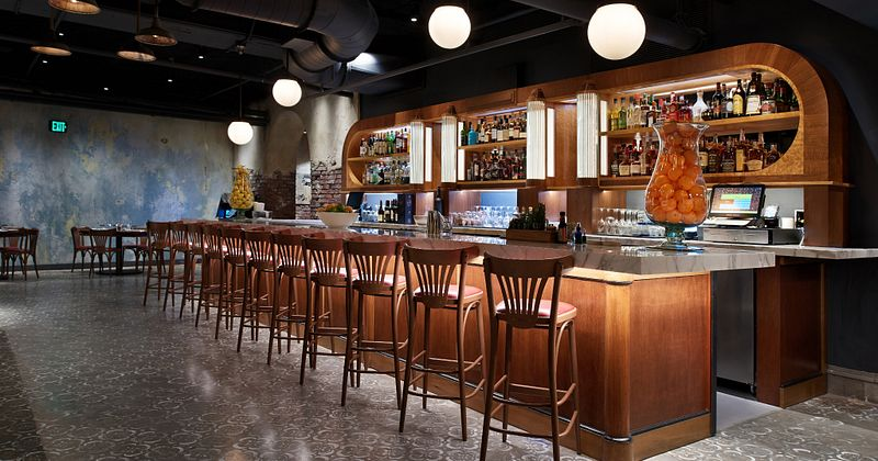 Empty bar area at Enzo's Hideaway Tunnel Bar & Restaurant