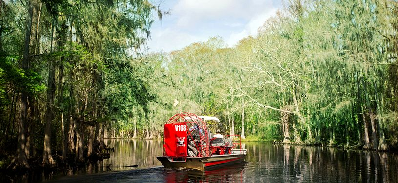 Spirit of the Swamp Airboat Rides rear of airboat