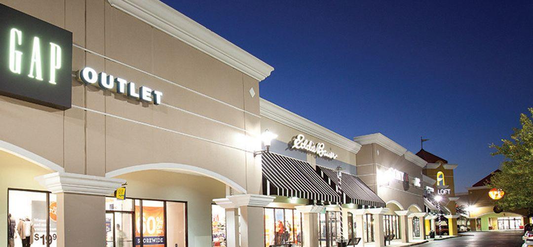 Storefronts at Lake Buena Vista Factory Stores