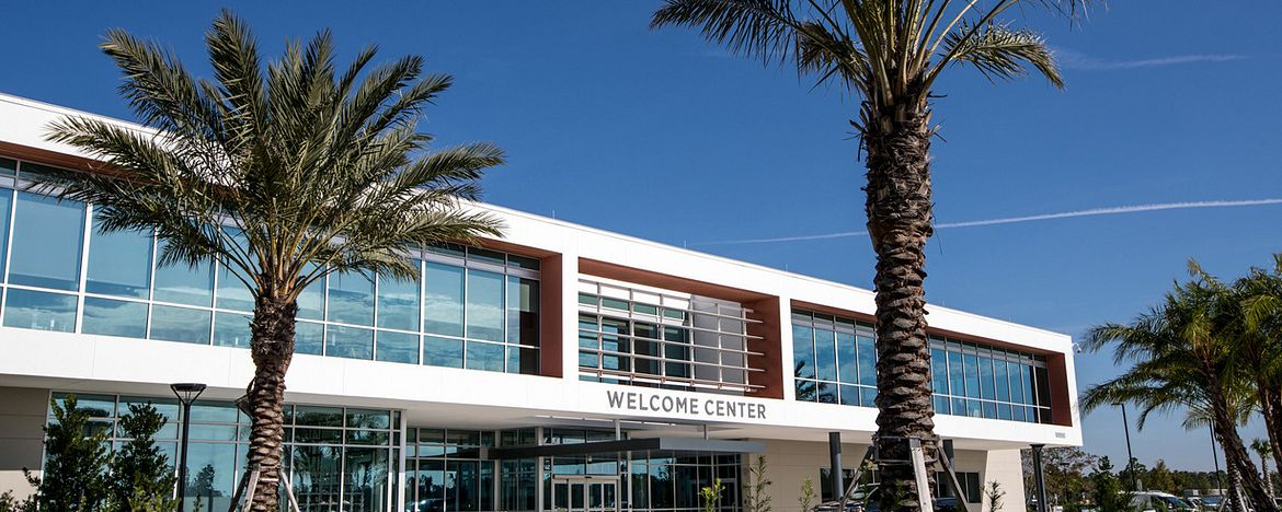 The front entrance to the USTA National Campus in Orlando