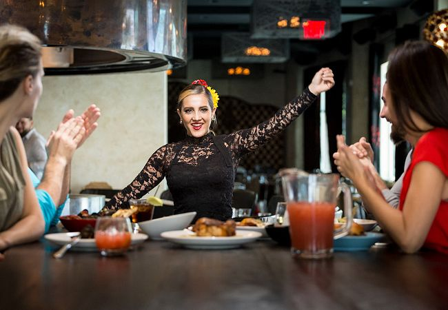 Flamenco Dancer at Tapa Toro Tapas Bar & Paella Pit in Orlando