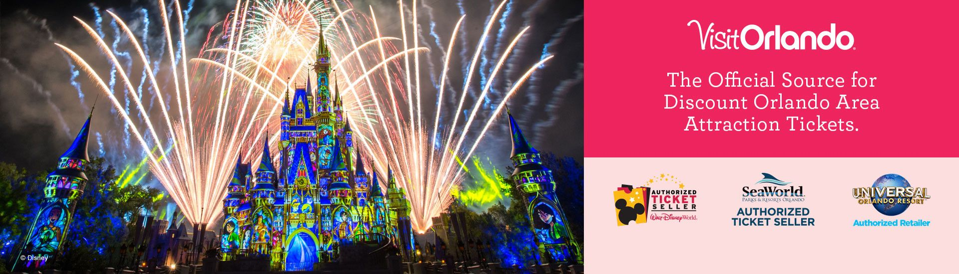Order online now and save up to $40 off gate prices on Walt Disney World Resort theme park tickets.