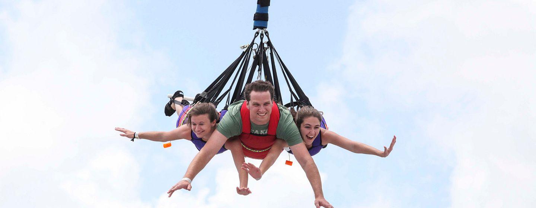 SkyCoaster at Fun Spot America in Orlando