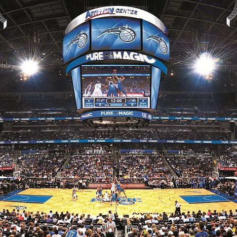 Orlando Magic Amway Center juego de basketball