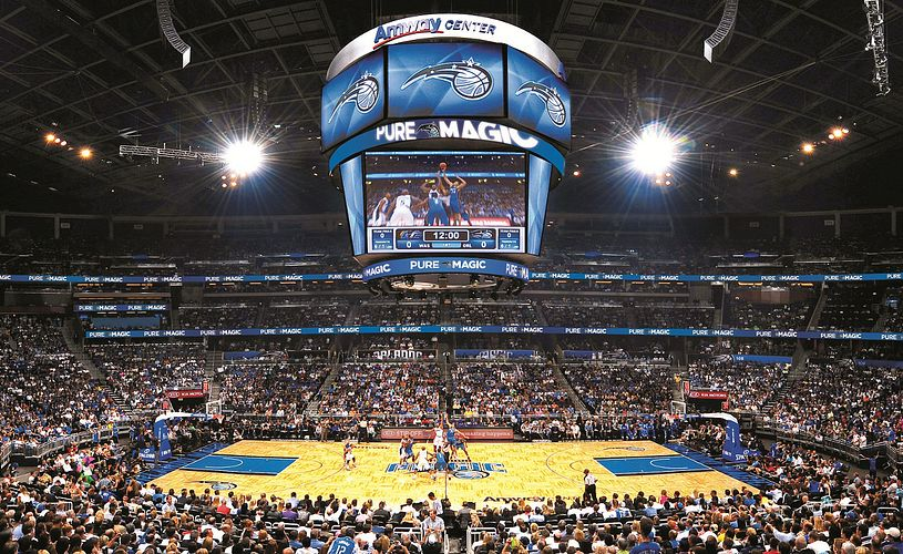 Orlando Magic playing at Amway Center