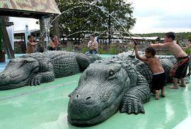 Gator Gully Splash Park Gatorland Orlando