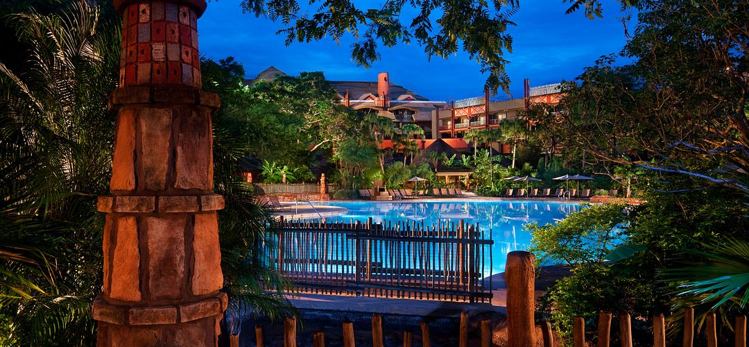 Disney's Animal Kingdom Lodge pool and resort exterior