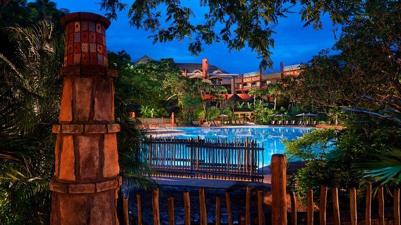 Disney's Animal Kingdom Lodge pool and resort exterior