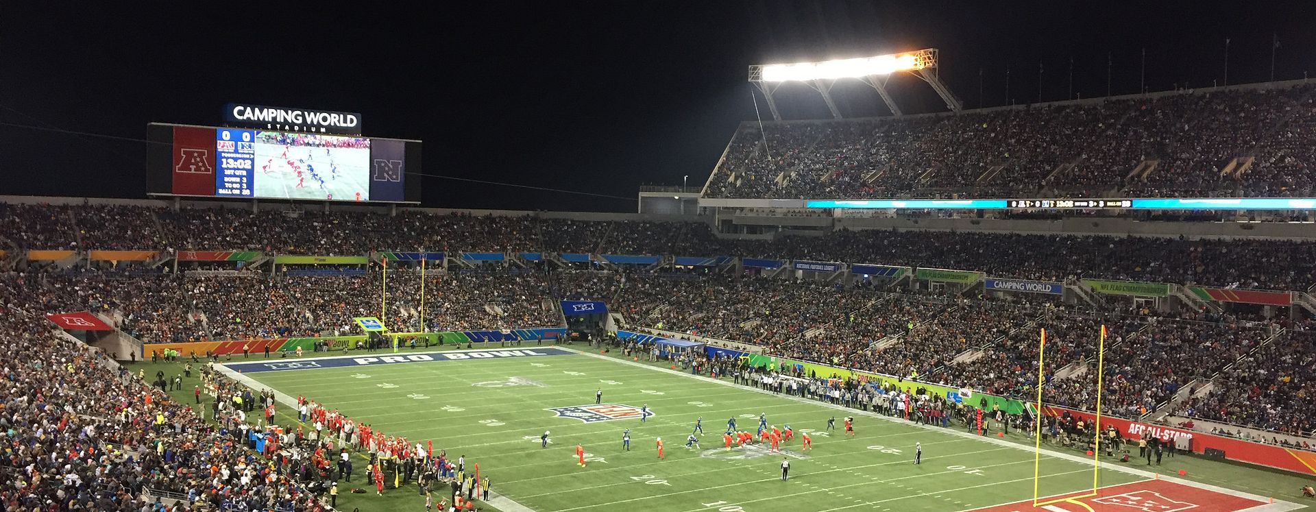 Pro Bowl football game at Camping World stadium