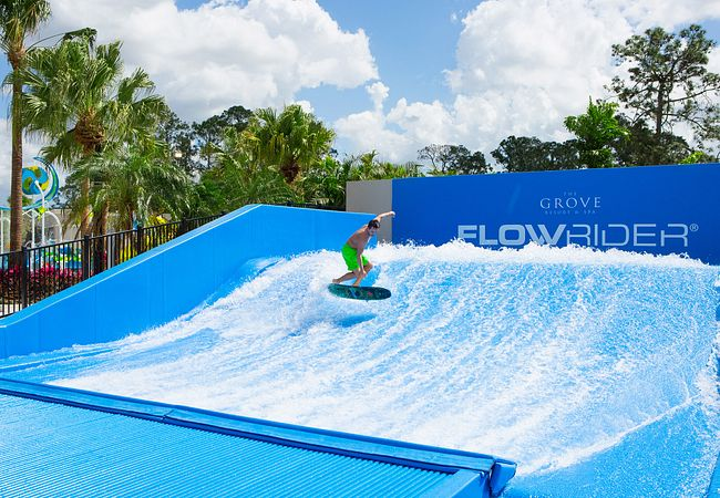 Flowrider at The Grove Resort & Spa's On-Site Water Park in Orlando