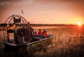 Scenic airboat ride, Florida
