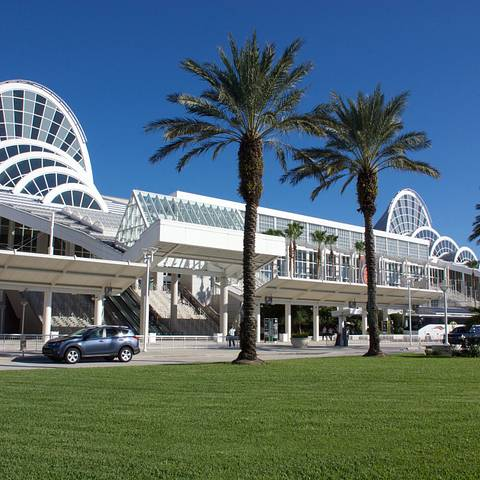 Front exterior of Orange County Convention Center in Orlando