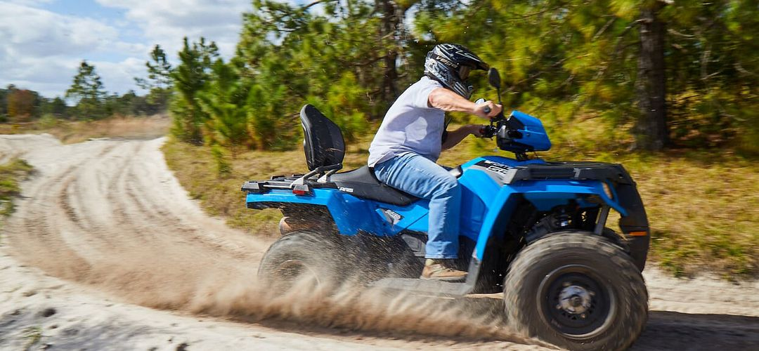 Guy driving an ATV