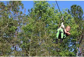 Zip lining at Orlando Tree Trek Adventure Park