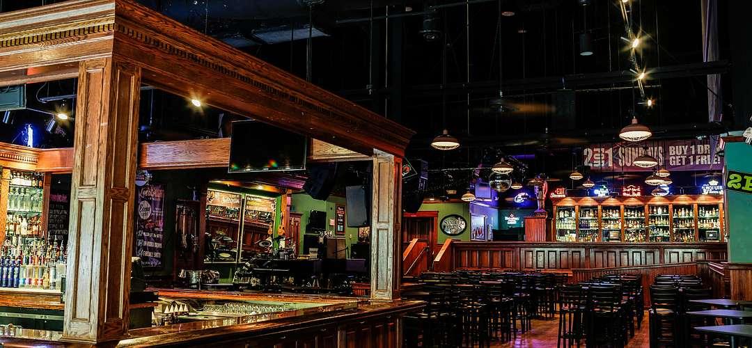A an interior shot of the bar at Howl at the Moon in Orlando