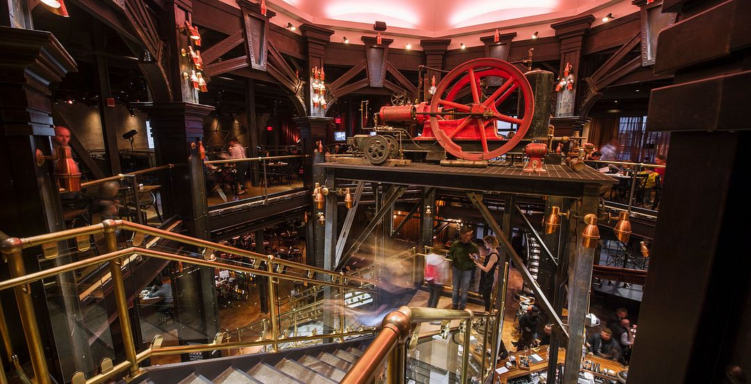 Staircase Inside The Edison at Disney Springs