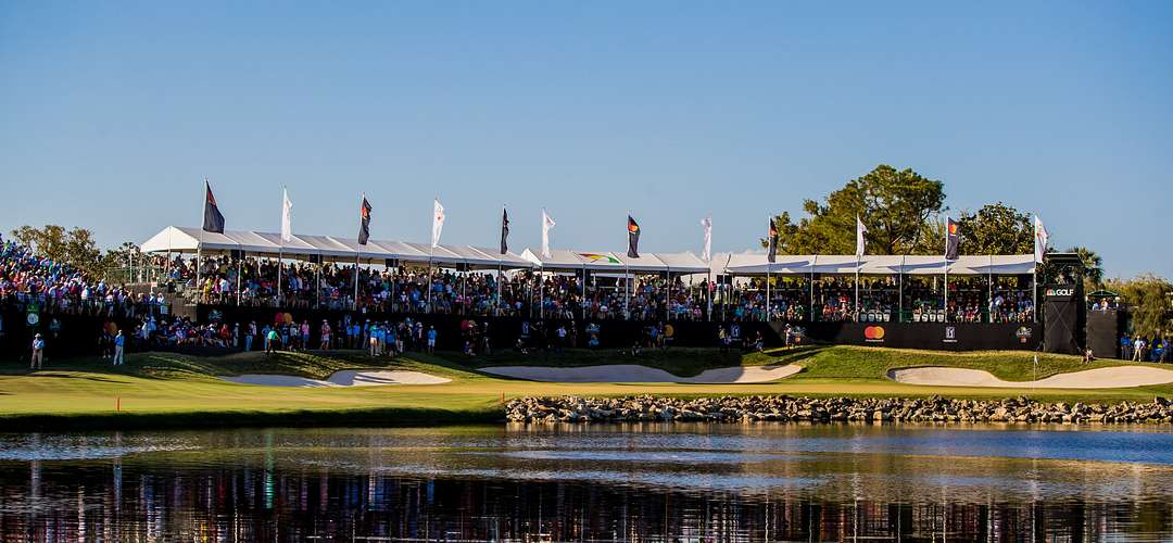Spectators watching the Arnold Palmer Invitational