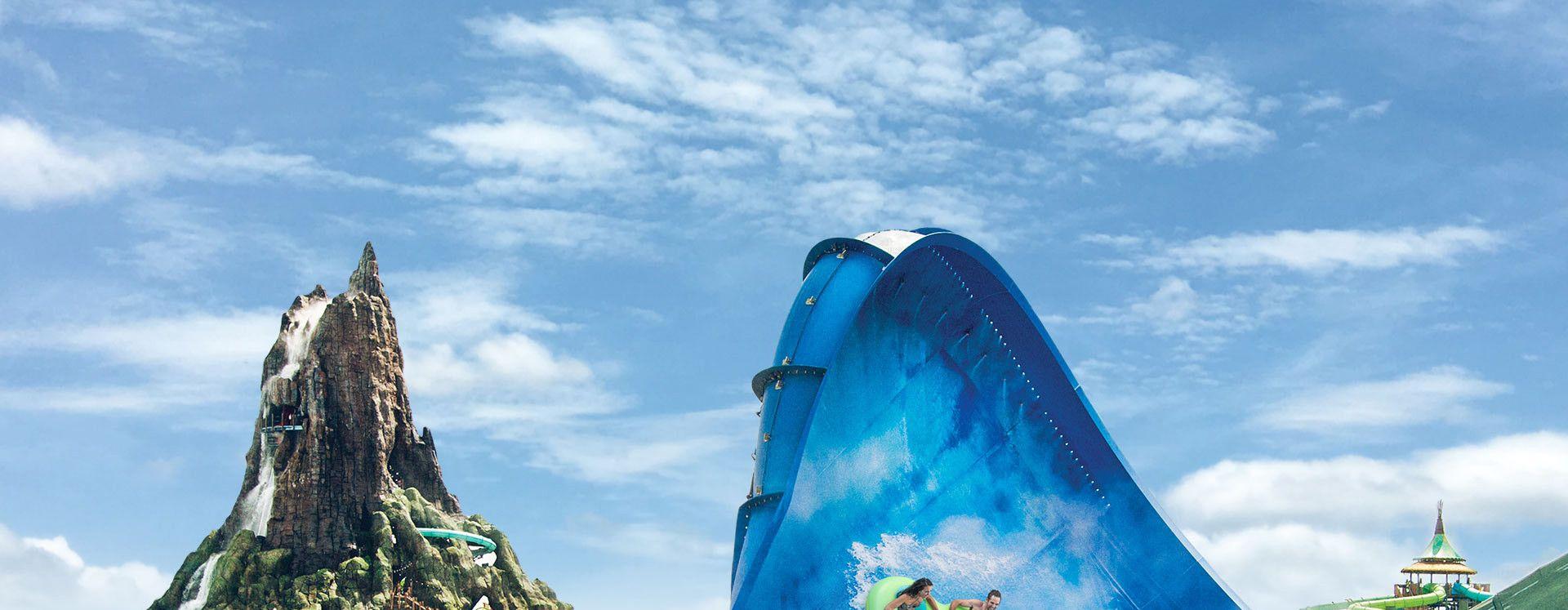 Universal's Volcano Bay™ Honu Ika Moana slides