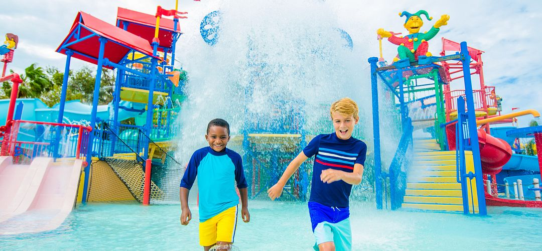 Two boys having fun at the water park in LEGOLAND® Florida Resort