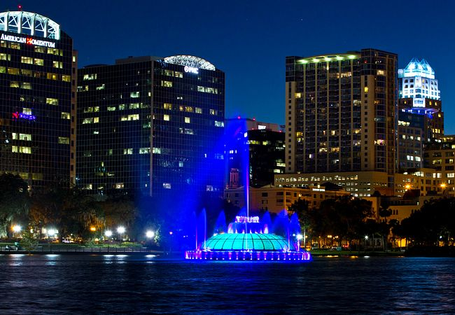 Swan Boat Rides for Two and Gorgeous Views Make for a Romantic New Year's Eve at Lake Eola Park in Orlando