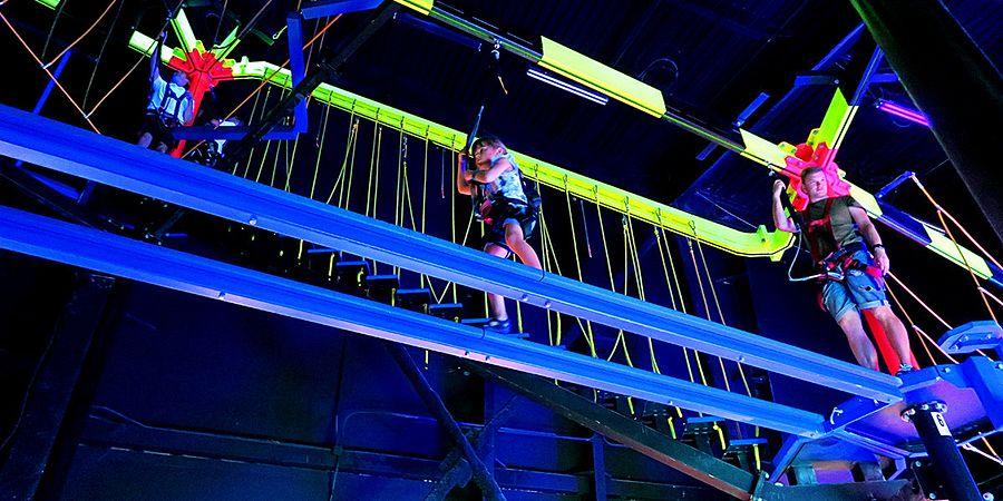 Indoor Ropes Challenge at WonderWorks in Orlando