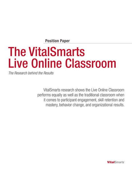 Live Online Classroom Position Paper