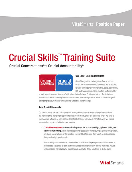 Crucial Skills Training Suite