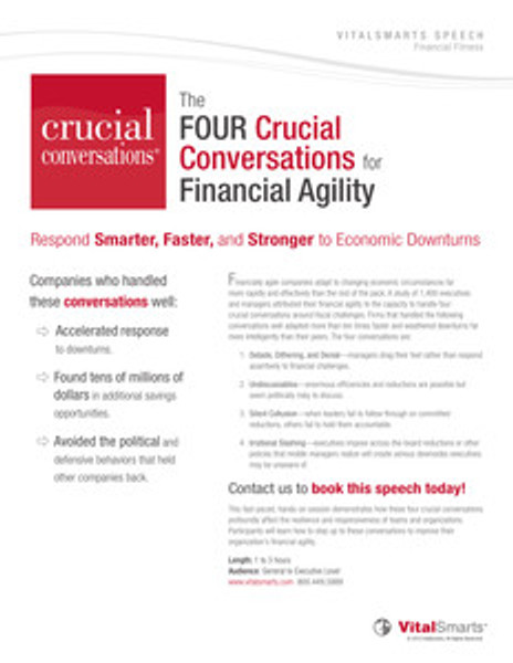 Financial Agility Speech