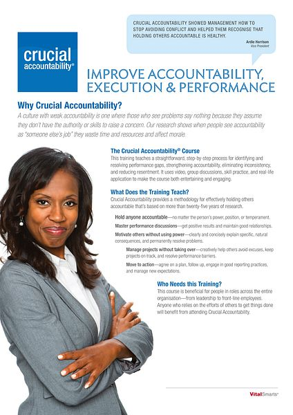 Crucial Accountability Training Overview