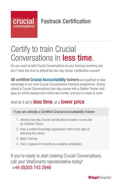 Crucial Conversations Fastrack