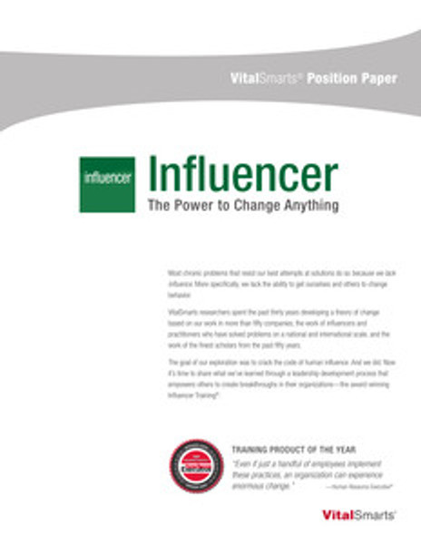 Influencer Position Paper