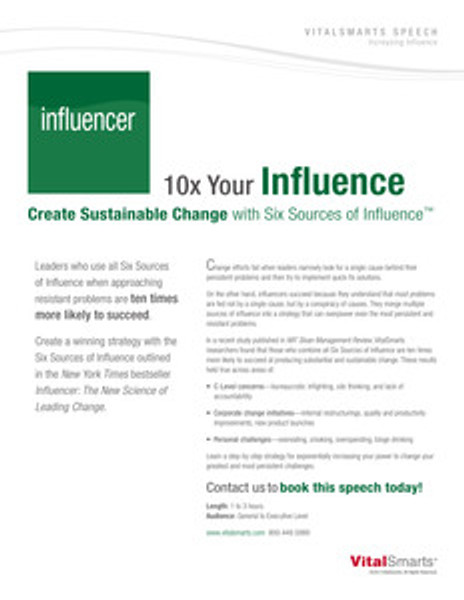 10x Influence Speech