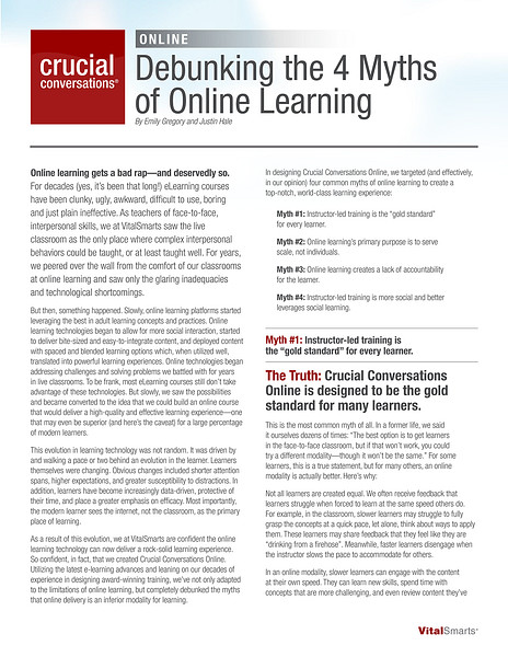Debunking the 4 Myths of Online Learning