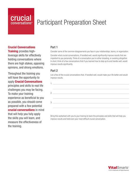 Participant Prep Sheet