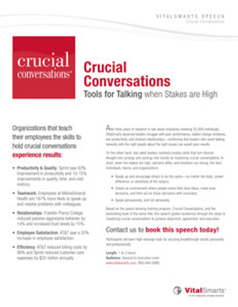 Crucial Conversations Speech