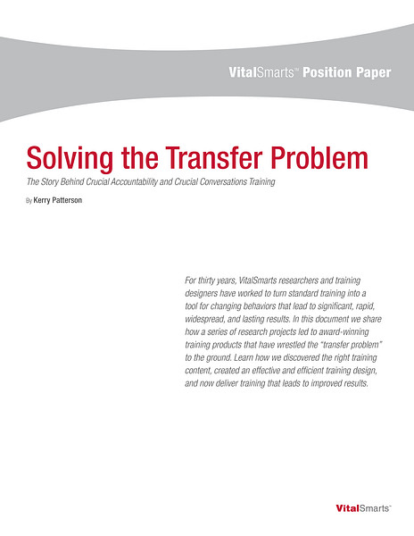 Solving the Transfer Problem